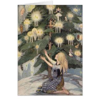 Cartão A menina pequena do fósforo por Anne Anderson