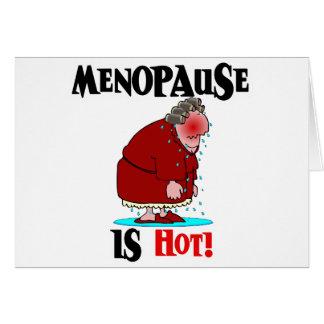 Cartão A menopausa está quente
