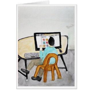 Cartão A mesa do computador