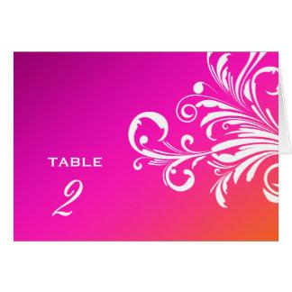 Cartão a mesa dos redemoinhos 311-Swanky numera o por do
