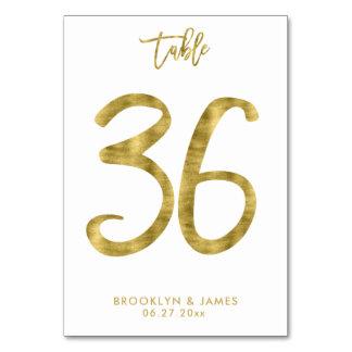 Cartão A mesa Wedding numera o efeito número 36 da folha