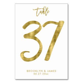 Cartão A mesa Wedding numera o efeito número 37 da folha