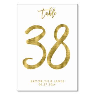 Cartão A mesa Wedding numera o efeito número 38 da folha