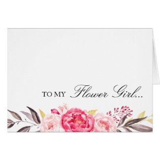 Cartão A meu florista, obrigado, festa de casamento