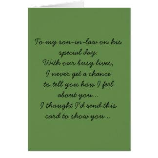 Cartão A meu genro