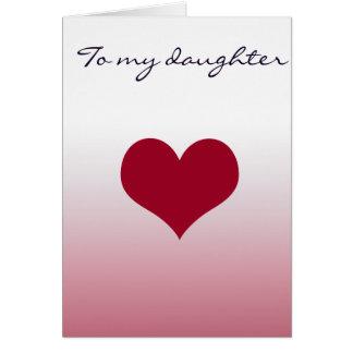 Cartão A minha filha