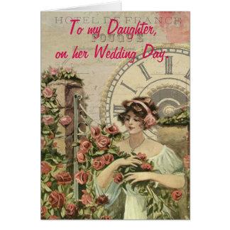 Cartão A minha filha, em seu dia de casamento