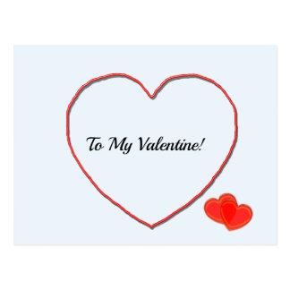 Cartão - a minha forma do coração dos namorados