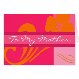 Cartão A minha mãe