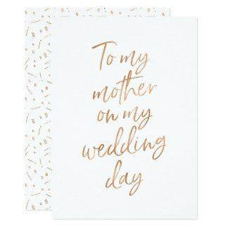 Cartão A minha mãe em meu dia do casamento
