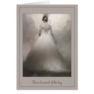 Cartão A minha noiva bonita do marido que sonha o