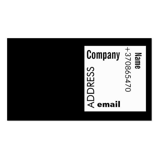 Cartão à moda branco preto do negócio cartões de visitas