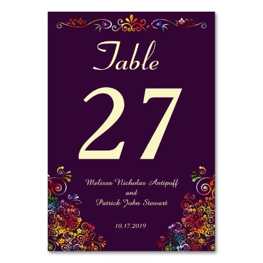 Cartão à moda elegante floral retro da mesa do