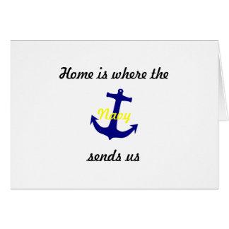 """Cartão a mudança de endereço carda o """"marinho """""""