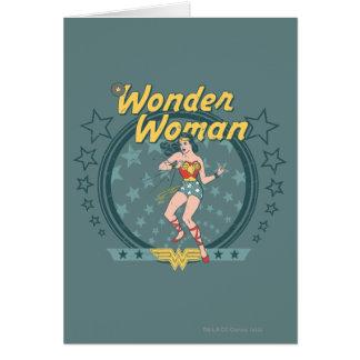 Cartão A mulher maravilha afligiu o design da estrela