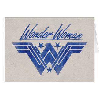 Cartão A mulher maravilha empilhada Stars o símbolo