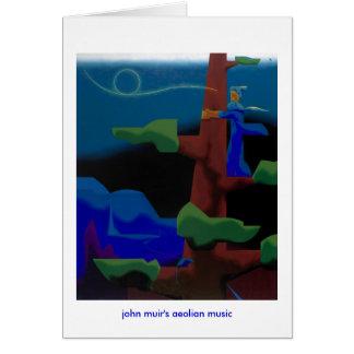 Cartão a música eólia dos muir de john - notecard