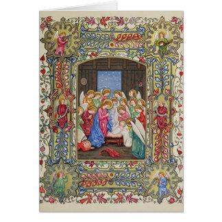 Cartão A natividade de nosso senhor