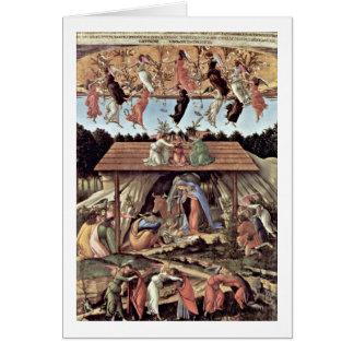 Cartão A natividade Mystical por Sandro Botticelli