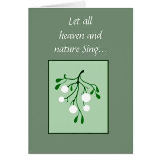 Cartão A natureza do céu canta o melhor amigo do visco da