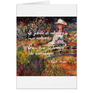 Cartão A natureza no art. de Monet