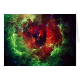 Cartão A nebulosa cor-de-rosa do Rosette dos unicórnios
