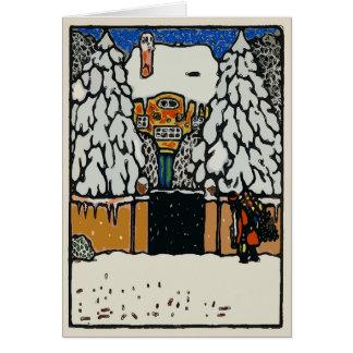 Cartão A neve do Natal, adiciona o texto