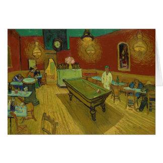 Cartão A noite Café por Vincent van Gogh (1888)