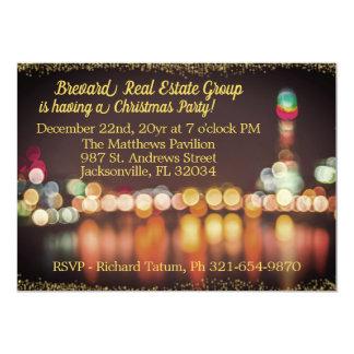 Cartão A noite da cidade ilumina a festa de Natal