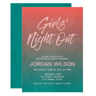 Cartão A noite das meninas corais de Bachelorette da