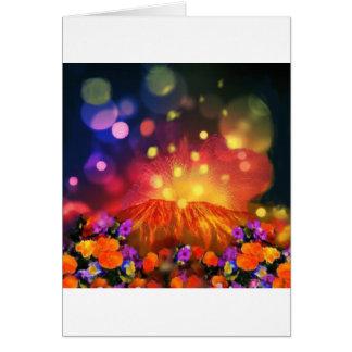 Cartão A noite é cheio da cor que aprecia a vida