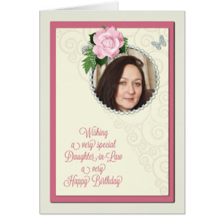 Cartão A nora, adiciona uma foto, aniversário
