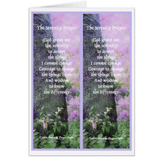 Cartão A oração da serenidade marca um endereço da