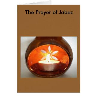Cartão A oração de Jabez