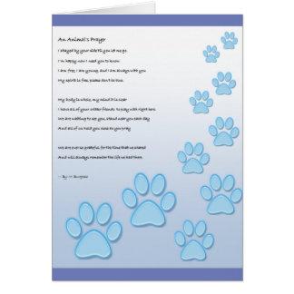 Cartão A oração de um animal -