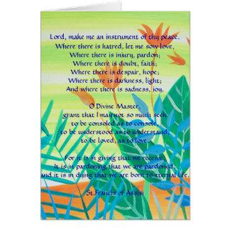 Cartão a oração simples por St Francis