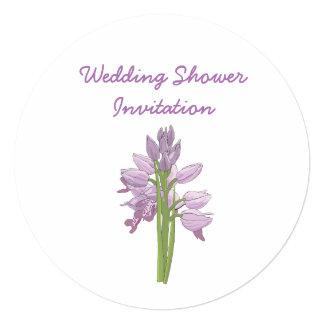 Cartão A orquídea favorece ideias, tema do chá de