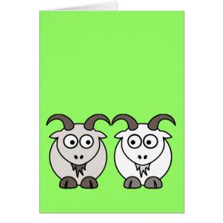 Cartão A ovelha obtem minha cabra