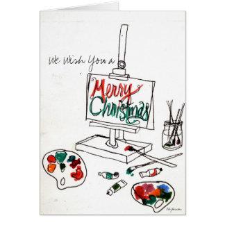 Cartão A paleta Notecard do Natal