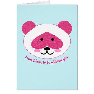 Cartão A panda cor-de-rosa que falta o carda