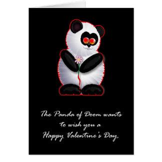 Cartão A panda da desgraça