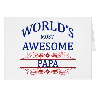 Cartão A papá a mais impressionante do mundo