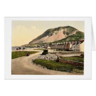 Cartão A parada, Llanfairfechan, Wales Photochrom raro