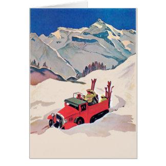 Cartão A patrulha da neve, adiciona o texto