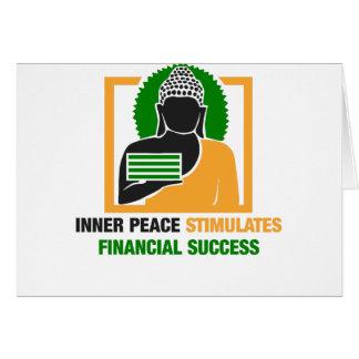 Cartão A paz interna estimula o sucesso financeiro