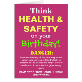 Cartão A piada engraçada do aniversário da saúde e da