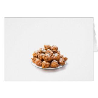 Cartão A pilha do adoçado oliebollen ou fritou fritos