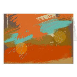 Cartão A pintura abstrata da arte da paisagem circunda