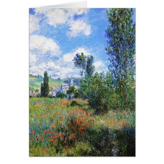 Cartão A pista na papoila coloca St Martin Claude Monet