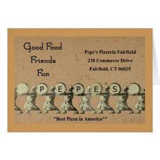 Cartão A pizaria Fairfield de Pepe